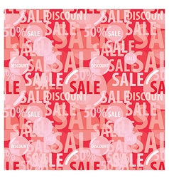 sale seamless pattern vector image