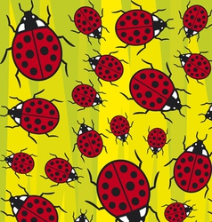 seamless background with ladybugs vector image vector image