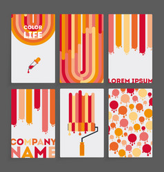 set of six business card vector image vector image