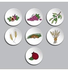 Seven species icons set vector