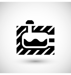Sewerage tank icon vector
