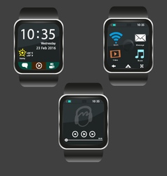 Smartwatch interface vector image vector image