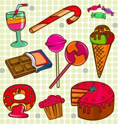 sweet set vector image vector image