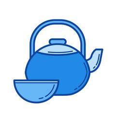 tea ceremony line icon vector image vector image