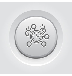 Time Management Icon vector image vector image