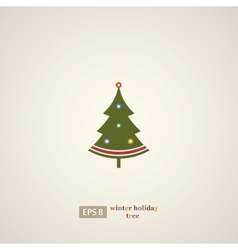 Winter holidays decoration tree vector