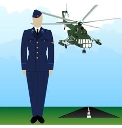 Military uniform force pilot-6 vector