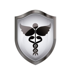 Isolated caduceus design vector
