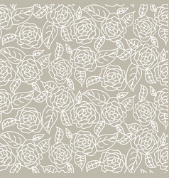 Drawn line rose wedding seamless pattern vector