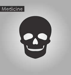 Black and white style icon of skull vector