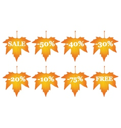 maple leaves with sale discounts vector image