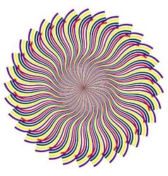 V0976Psychedelic kaleidoscope spiral vector image