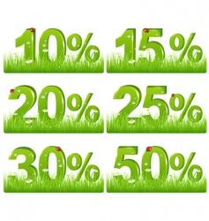 discount figures  vector image