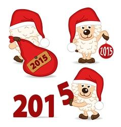 sheep symbol of 2015 year vector image