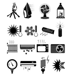 Ventilation icons set vector image
