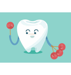 Tooth show sale up vector