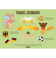 Germany travel background with place for text set vector