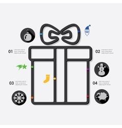 Christmas infographic vector image