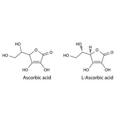 Structural chemical formula of ascorbic acid vector