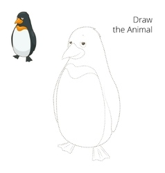 Learn to draw animal penguin vector