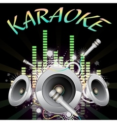 Background music karaoke vector
