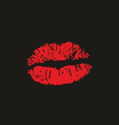 Lips kiss vector