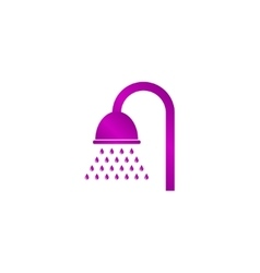 Shower icon flat design style vector