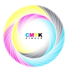 Abstract CMYK circle vector image