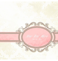 Antique wedding banner vector