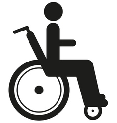 Black icon disabled person in wheelchair World vector image vector image