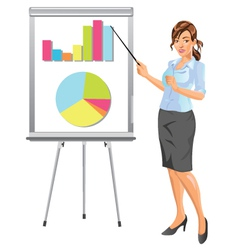 Businesswoman presentation vector image