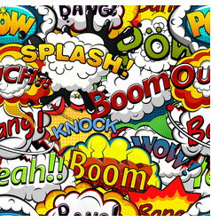 Comics speech bubbles seamless pattern vector