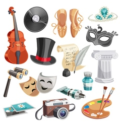 Culture and arts set vector
