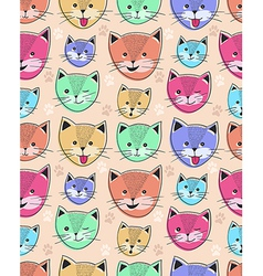 cute cat seamless pattern for children vector image vector image