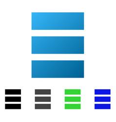 Database flat gradient icon vector