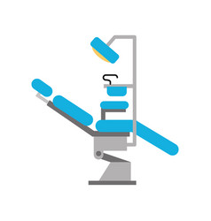dentistry chair isolated icon vector image