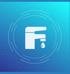 faucet icon sign vector image