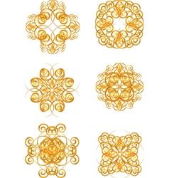 gold vintage symbols vector image