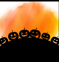 Halloween background on watercolour texture vector