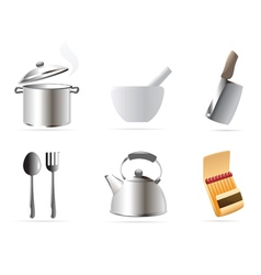 Icons for kitchen vector image