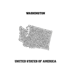Label with map of washington vector