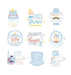 Little prince set of prints for infant boy room or vector