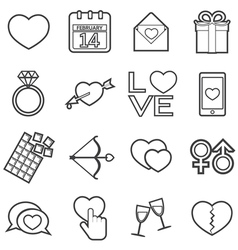 love icon vector image vector image