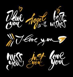 Love lettering background vector