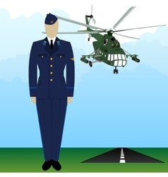 Military uniform force pilot-6 vector