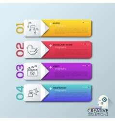 Modern arrow business step options banner vector