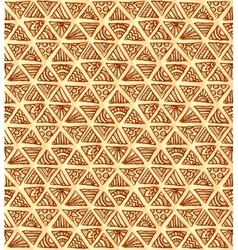 Ornate hand-drawn vintage beige triangles vector image