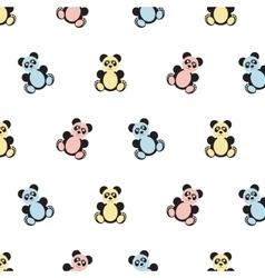 Panda bear pattern vector image vector image