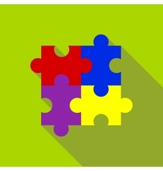 Puzzle icon flat style vector image vector image