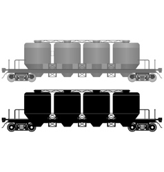 Railway carriage for bulk cargo-3 vector
